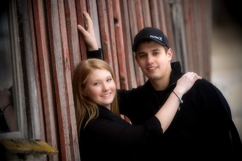 Tanner and Britney, barn shot