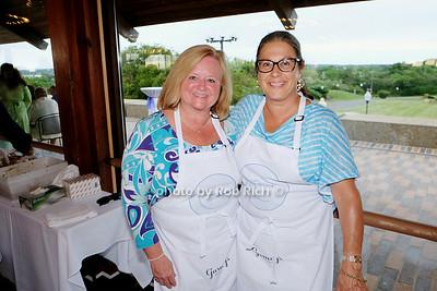 Brenda Macpherson and Jessie James serving up delicious gazpacho photo by Rob Rich/SocietyAllure.com © 2014 robwayne1@aol.com 516-676-3939