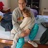 2001 Cuddling In Mommy's Lap
