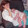 1999 Snuggling w Mommy in Rocking Chair2