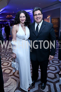 Dafna Tapiero, Alan Fleischmann. Photo by Tony Powell. The 2014 Children's Ball. Ritz Carlton. April 11, 2014