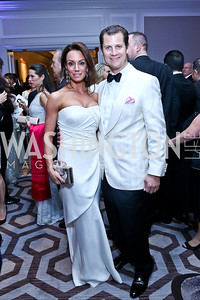 Kristin and John Cecchi. Photo by Tony Powell. The 2014 Children's Ball. Ritz Carlton. April 11, 2014