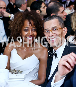 Gina and Gene Adams. Photo by Tony Powell. The 2014 Children's Ball. Ritz Carlton. April 11, 2014