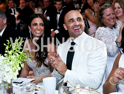Abeer Al Otaiba and UAE Amb. Yousef Al Otaiba. Photo by Tony Powell. The 2014 Children's Ball. Ritz Carlton. April 11, 2014