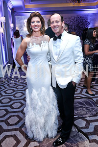 Norah O'Donell and Chef Geoff Tracy. Photo by Tony Powell. The 2014 Children's Ball. Ritz Carlton. April 11, 2014