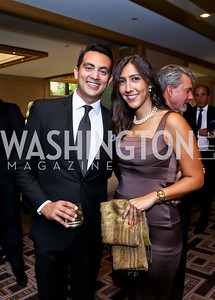 Osama Mohsen, Nadine El Alfi. Photo by Tony Powell. Meridian Global Leadership Awards. Four Seasons. June 10, 2014