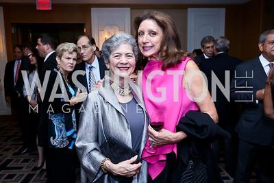 Betty Sams, Aniko Gaal Schott. Photo by Tony Powell. Meridian Global Leadership Awards. Four Seasons. June 10, 2014