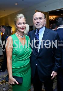 Gigi and Shafik Gabr. Photo by Tony Powell. Meridian Global Leadership Awards. Four Seasons. June 10, 2014