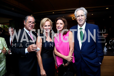 Spiros Voyadzis, Fabiola Martens,  Aniko Gaal Schott and Nash Schott. Photo by Tony Powell. Meridian Global Leadership Awards. Four Seasons. June 10, 2014