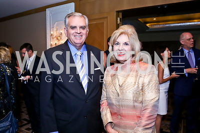 Ray LaHood, Patricia Harrison. Photo by Tony Powell. Meridian Global Leadership Awards. Four Seasons. June 10, 2014