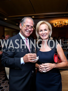 Spiros Voyadzis, Fabiola Martens. Photo by Tony Powell. Meridian Global Leadership Awards. Four Seasons. June 10, 2014
