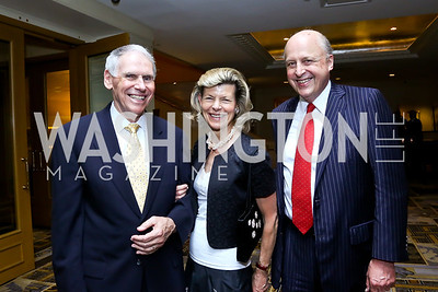 Admiral William Fallon, Diana and John Negroponte. Photo by Tony Powell. Meridian Global Leadership Awards. Four Seasons. June 10, 2014