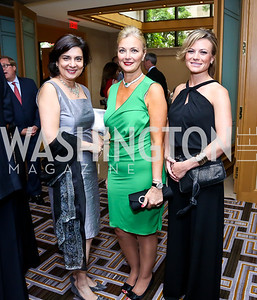 Gouri Mirpuri, Gigi Gabr, Tera Dahl. Photo by Tony Powell. Meridian Global Leadership Awards. Four Seasons. June 10, 2014