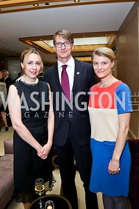 Natasa Jeremic, Marco Makovec, Ane Halsboe-Jorgensen. Photo by Tony Powell. Meridian Global Leadership Awards. Four Seasons. June 10, 2014