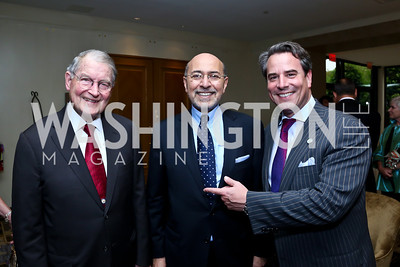 William Webster, Shafik Gabr, Stuart Holliday. Photo by Tony Powell. Meridian Global Leadership Awards. Four Seasons. June 10, 2014