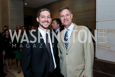 "Producer Roger Sorkin, Rep. Scott Peters. Photo by Tony Powell. ""The Burden"" Screening and Reception. US Capitol Visitors Center. July 24, 2014"