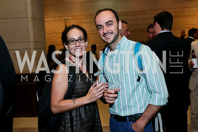 "Rebecca Fudala, David Kortava. Photo by Tony Powell. ""The Burden"" Screening and Reception. US Capitol Visitors Center. July 24, 2014"
