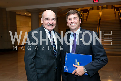 "Adm. Dennis McGinn, Jon Powers. Photo by Tony Powell. ""The Burden"" Screening and Reception. US Capitol Visitors Center. July 24, 2014"