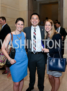 "Stephanie Dreyer, Michael Wu, Jaclyn Houser. Photo by Tony Powell. ""The Burden"" Screening and Reception. US Capitol Visitors Center. July 24, 2014"