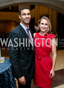 "Gabe Surratt, Meredith Sundlof. Photo by Tony Powell. ""The Burden"" Screening and Reception. US Capitol Visitors Center. July 24, 2014"