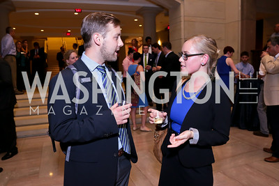 "Jeff Cramer, Bettina Bergöö. Photo by Tony Powell. ""The Burden"" Screening and Reception. US Capitol Visitors Center. July 24, 2014"