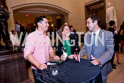 "Pat Contreras, Andrea Marr, Steven LaRue. Photo by Tony Powell. ""The Burden"" Screening and Reception. US Capitol Visitors Center. July 24, 2014"