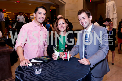 "Pat Contreras, Andrea Marr, Steven LaRue. Photo by Tony Powell. ""The Burden"" Screening and Reception. US Capitol Visitors Center. July 24, 2014"