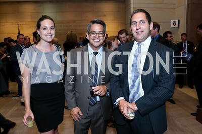 "Kirsten Skala, Ben Evans, Gary Meltz. Photo by Tony Powell. ""The Burden"" Screening and Reception. US Capitol Visitors Center. July 24, 2014"