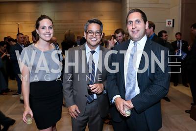 "Kirsten Skala, Ben Evans, Gary Meltz. Photo by Tony Powell. ""The Burden"" Screening and Reception. US Capitol Visitors Center. July 24, 2014"