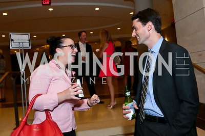 "Lara Flynn, Marc Boom. Photo by Tony Powell. ""The Burden"" Screening and Reception. US Capitol Visitors Center. July 24, 2014"