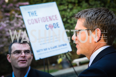 Scott Stossel, Jay Carney,  The Confidence Code, by Katty Kay and Claire Shipman, Book Party, April 21st, 2014, Photo by Ben Droz