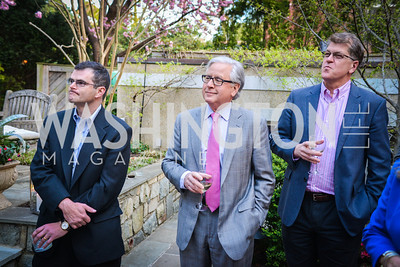 Scott Stossell, Howard Fineman, Steve Clemons,  The Confidence Code, by Katty Kay and Claire Shipman, Book Party, April 21st, 2014, Photo by Ben Droz
