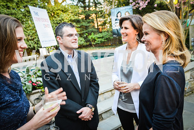 Laura Ann Petitto, Scott Stossel, Claire Shipman, Katty Kay,  The Confidence Code, by Katty Kay and Claire Shipman, Book Party, April 21st, 2014, Photo by Ben Droz