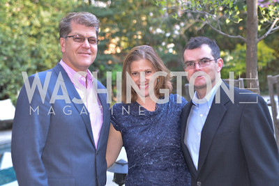 R-L Scott Stossel, Emily Lenzner, Steve Clemons, The Confidence Code, by Katty Kay and Claire Shipman, Book Party, April 21st, 2014, Photo by Ben Droz