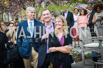 David Gregory, Tim Hardart, Virginia Shore,  The Confidence Code, by Katty Kay and Claire Shipman, Book Party, April 21st, 2014, Photo by Ben Droz