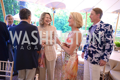 Laura Denise Bisogniero, Ian O'Neil, Samantha Corrigan, Annual Country Barbecue at the Villa Firenze benefitting the Children's Hearing and Speech Center.  Thursday, June 5th, 2014.  Photo by Ben Droz.