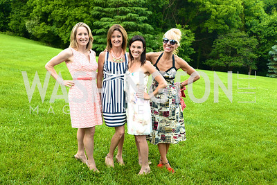 Lizzy Conroy, Julie Rothemeson, Sarah Bovim, Nicole Bacicus, Annual Country Barbecue at the Villa Firenze benefitting the Children's Hearing and Speech Center.  Thursday, June 5th, 2014.  Photo by Ben Droz.
