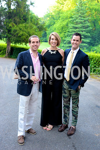 Grant Schneider, Caitlin Morris, Jeffrey Gullo, Annual Country Barbecue at the Villa Firenze benefitting the Children's Hearing and Speech Center.  Thursday, June 5th, 2014.  Photo by Ben Droz.
