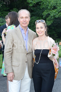 John Paty, Laura Dreiband, Annual Country Barbecue at the Villa Firenze benefitting the Children's Hearing and Speech Center.  Thursday, June 5th, 2014.  Photo by Ben Droz.