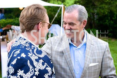 Ian O'Neil, Trip Mclaughlin, Annual Country Barbecue at the Villa Firenze benefitting the Children's Hearing and Speech Center.  Thursday, June 5th, 2014.  Photo by Ben Droz.