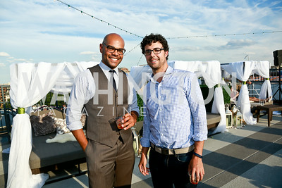 Dana Nearing, Andrew O'Connor. Photo by Tony Powell. The Embassy Row Hotel Rooftop Opening. July 16, 2014