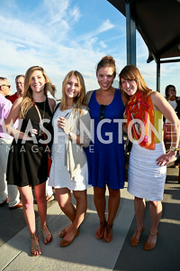 Kelly Burke, Sophie Johnson, Arliene Posno, Julie Giffin. Photo by Tony Powell. The Embassy Row Hotel Rooftop Opening. July 16, 2014