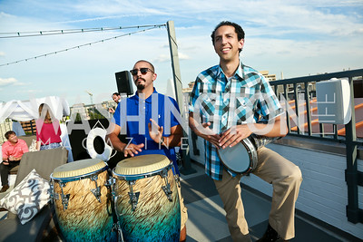 Mehdi Rhanime, Khalil Azzar. Photo by Tony Powell. The Embassy Row Hotel Rooftop Opening. July 16, 2014