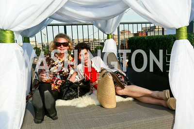 Betina Margolis, Vivian Sun. Photo by Tony Powell. The Embassy Row Hotel Rooftop Opening. July 16, 2014