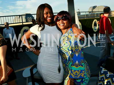 Tameka Martin, Debbie Kirksey. Photo by Tony Powell. The Embassy Row Hotel Rooftop Opening. July 16, 2014
