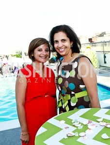Sunita Joshi, Anita Hattiangadi. Photo by Tony Powell. The Embassy Row Hotel Rooftop Opening. July 16, 2014