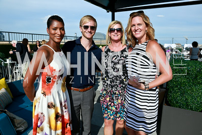 Jacqui Kennedy, JD Koons, Rosie Haugh, Tiffany Gannon. Photo by Tony Powell. The Embassy Row Hotel Rooftop Opening. July 16, 2014