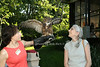 Jodi Levine , Meep the great horned owl, and Lauren Ezersky<br /> photo by Rob Rich/SocietyAllure.com © 2014 robwayne1@aol.com 516-676-3939