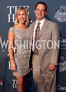 RNC chairman Reince Priebus with wife Sally Priebus