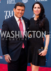 Fox New's Bret Baier with his wife Amy Baier